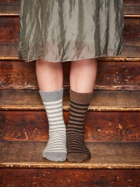 Alpaca Stripy Socks