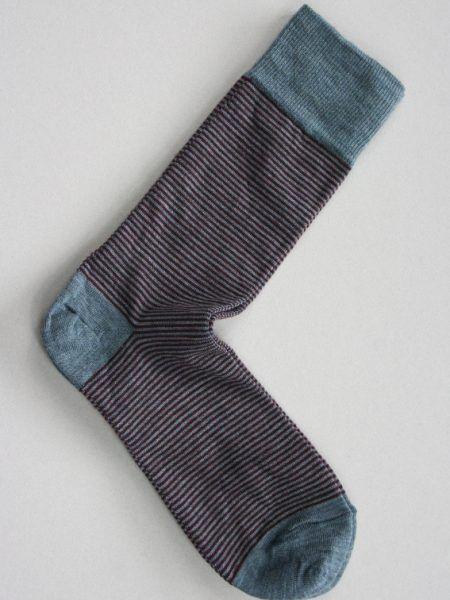 Pencil Stripe Wool Sock
