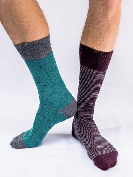 Pencil Stripe wool socks