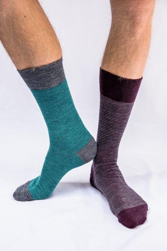 Pencil Stripe wool socks