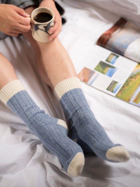 Alpaca Bed Socks in Pastel Shades