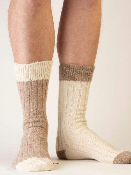 Alpaca Bed Socks in Natural Shades
