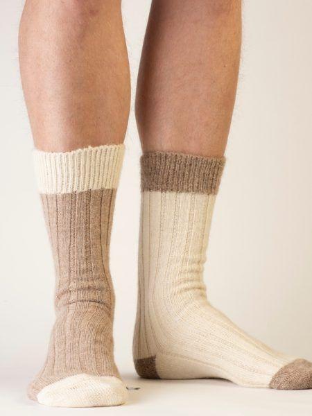 Alpaca Bed Socks in Natural Shades