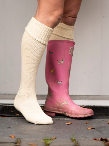Welly Boot Socks in British Wool