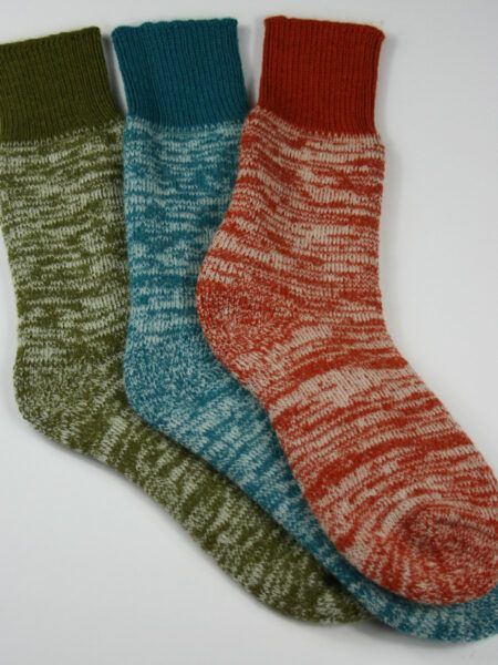 Alpaca Terry Loop Walking Socks  with Contrast Cuff