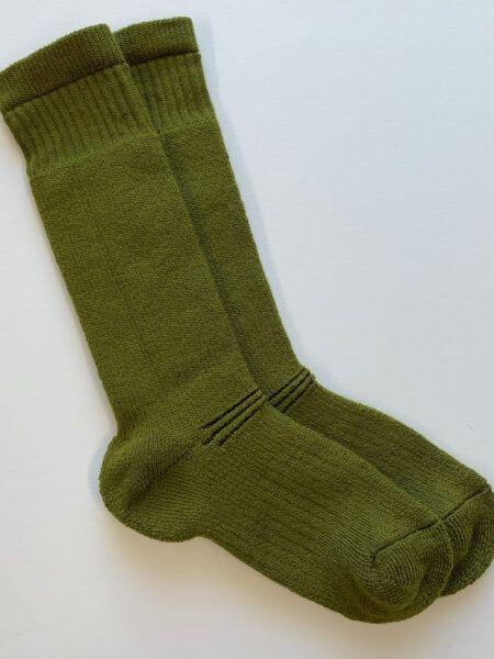 Wool walking sock olive